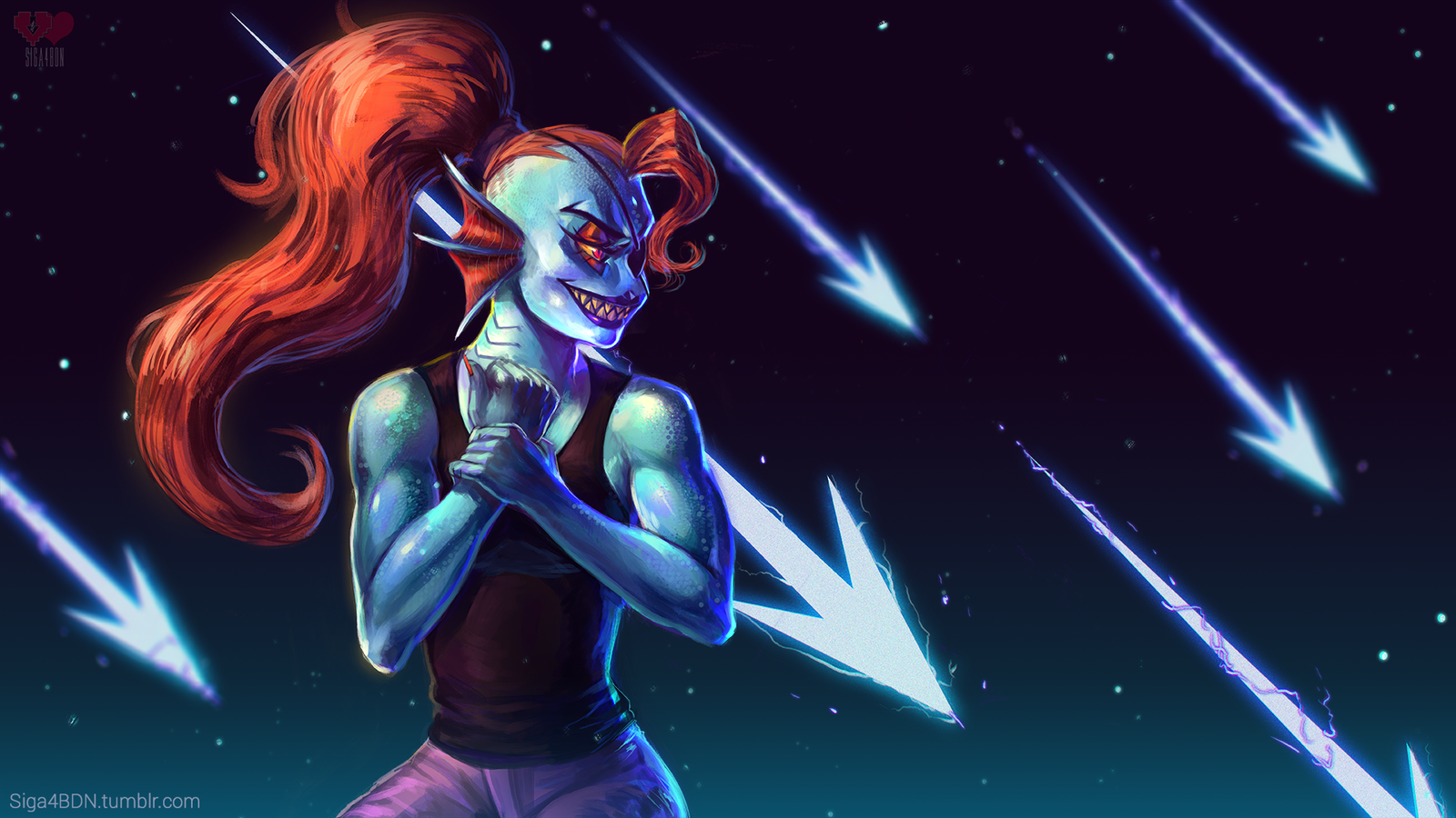 Undyne Wallpaper by Siga4BDN 1600x900