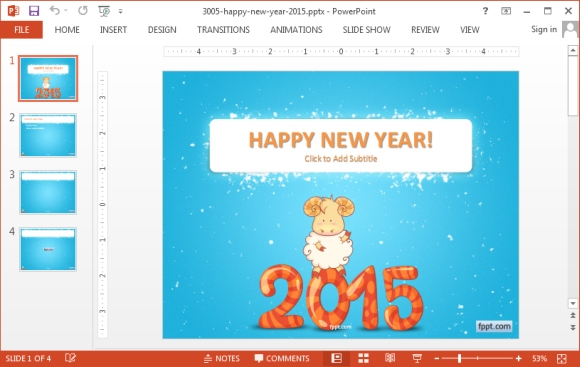 New Year 2015 PowerPoint Templates 580x367