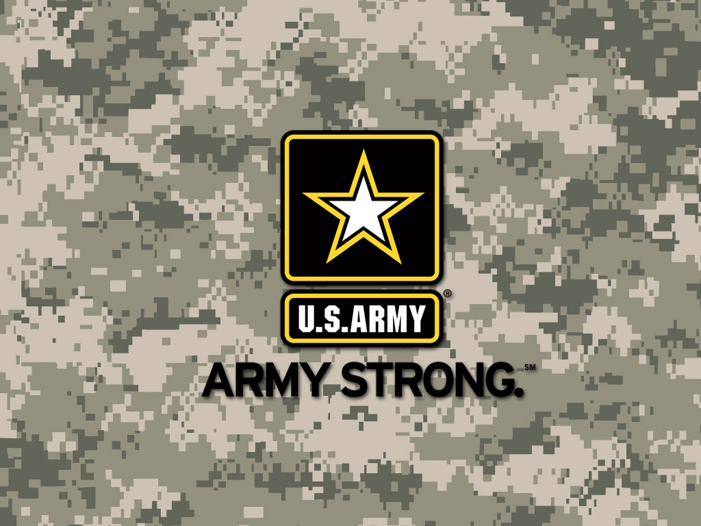 Army Strong Digital Camo Wallpaper 1024x768