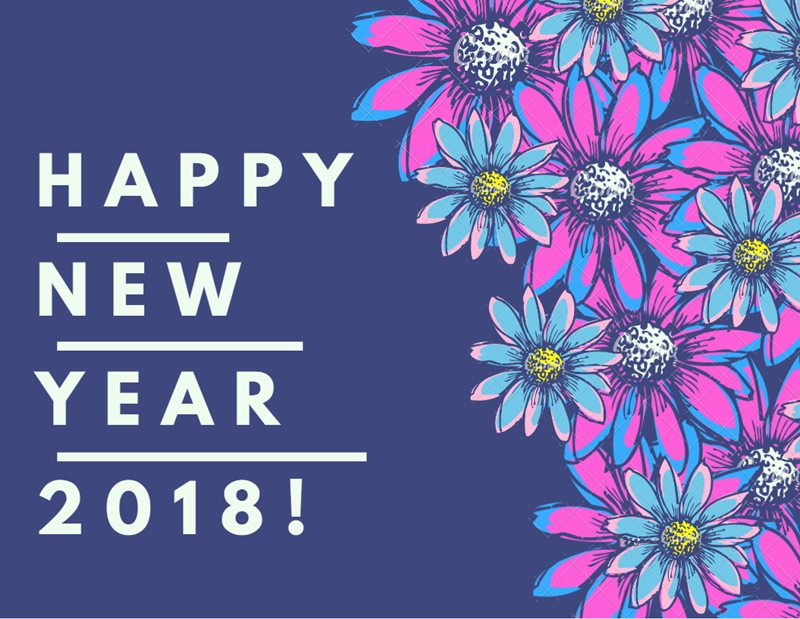 Happy New Year 2018 Beautiful Wallpaper Merry Christmas 800x619