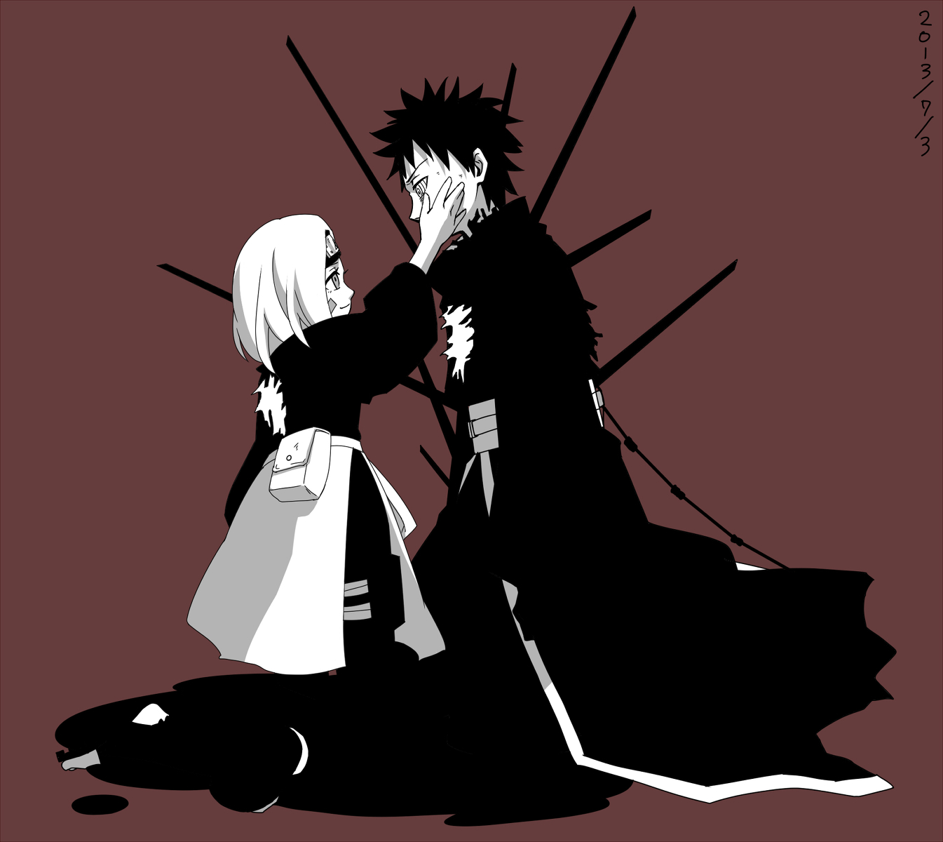 Team Minato images Obito and Rin HD wallpaper and background 1345x1200