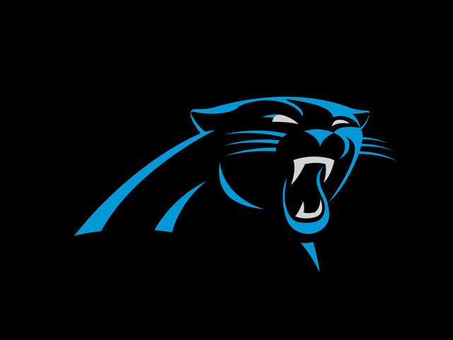 good iphone wallpaper of the new logo   Page 2   Carolina Panthers 640x480