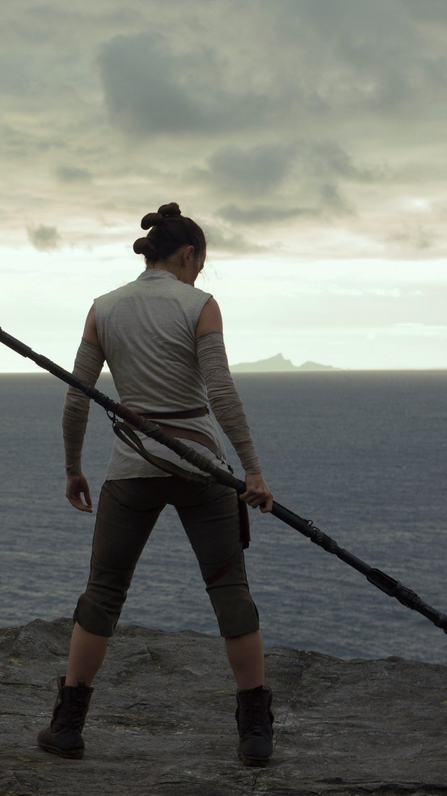 Wallpaper Star Wars The Last Jedi Daisy Ridley 4k Movies 16628 640x1138