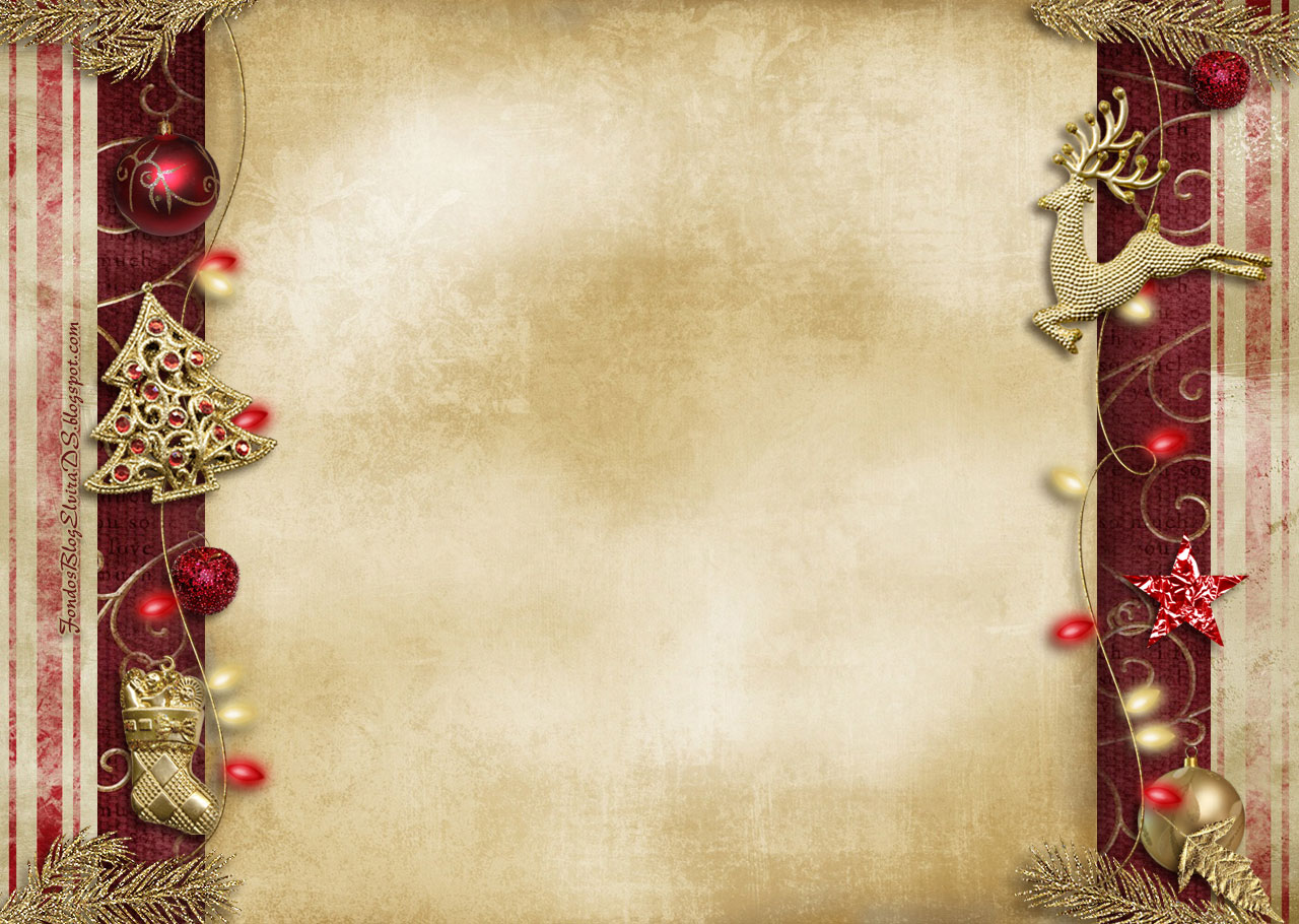 Christmas Peace Decoration Backgrounds For PowerPoint   Holiday 1280x910