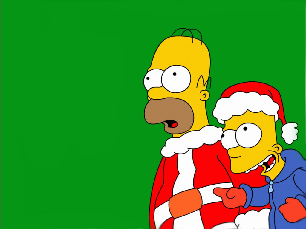Simpsons The Christmas - HD Wallpapers Widescreen - 1024x768
