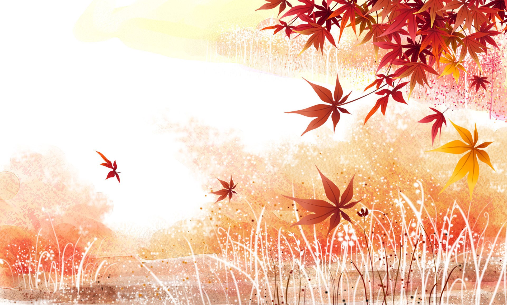 Maple leaves background wallpaper 2011 1920x1158