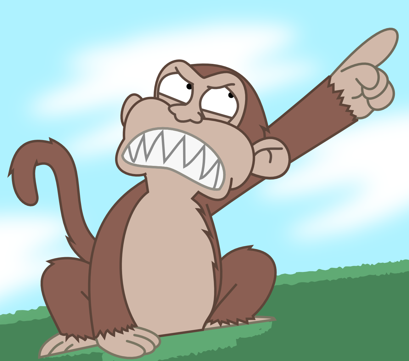 Angry Monkey Family Guy Evil monkeyby lonmcgregor