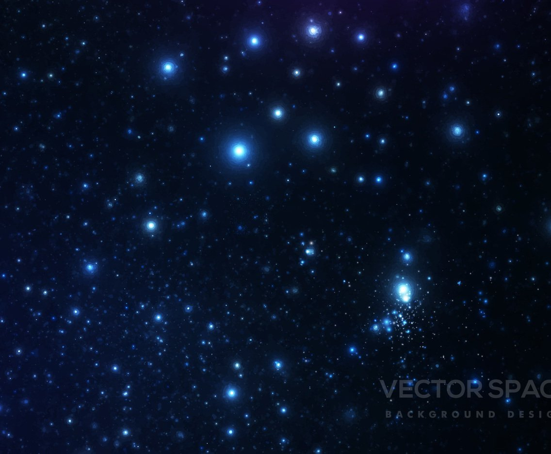 Starry Space Background Vector Art Graphics freevectorcom 1136x936