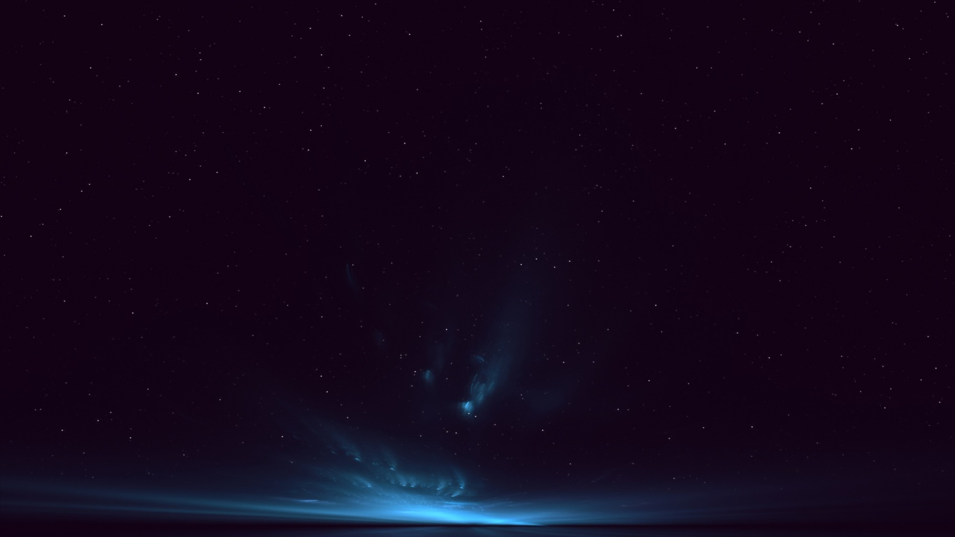 1366x768 Deep Blue Night Stars Horizon desktop PC and Mac 1366x768