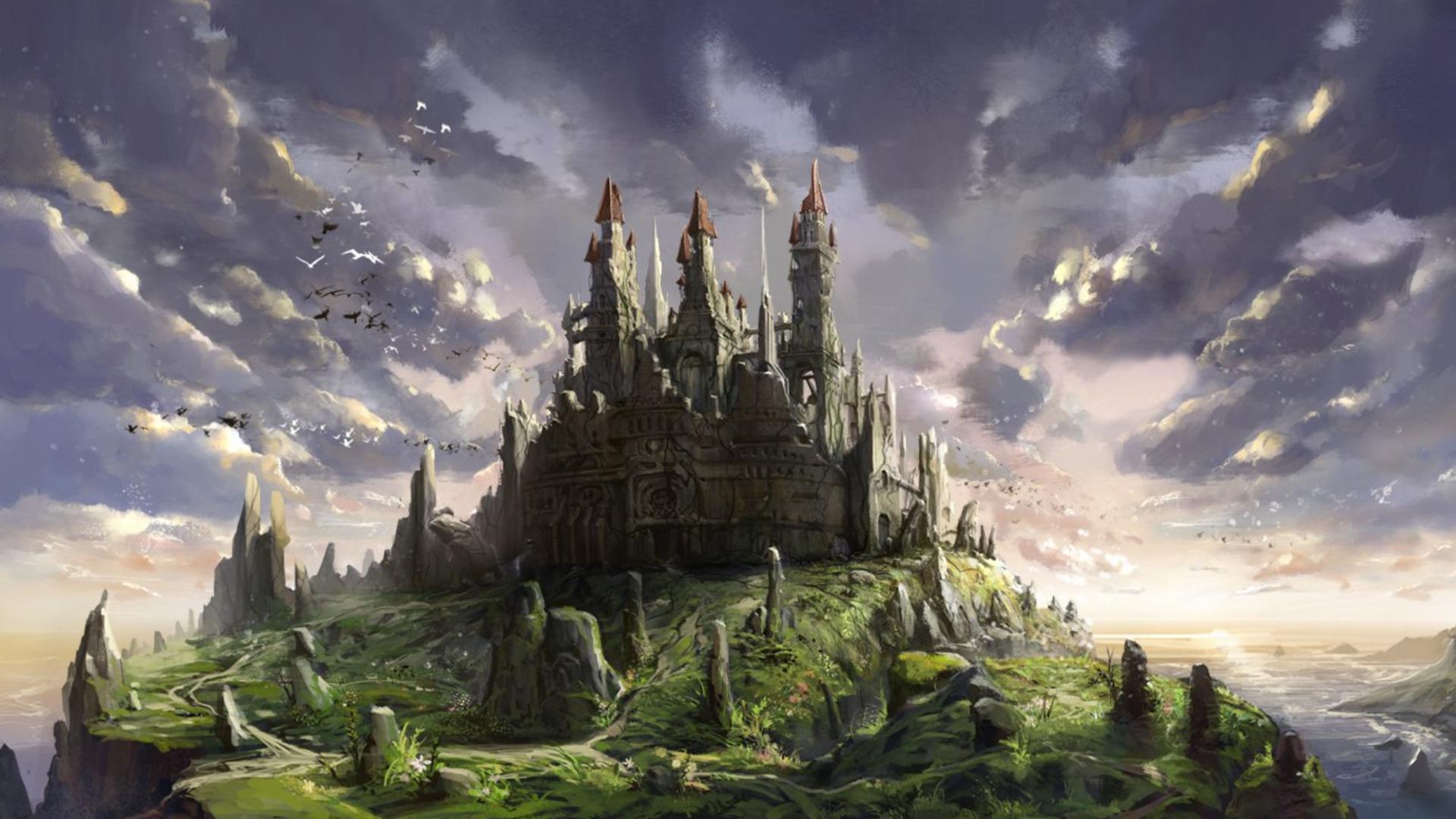 Fantasy castle wallpapers wallpapersafari - Fantasy desktop pictures ...