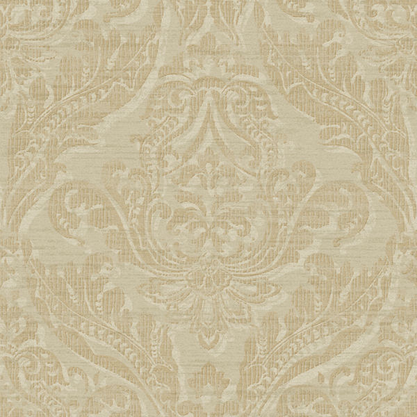 Silver and Gold Washed Damask Wallpaper   Wall Sticker Outlet 600x600