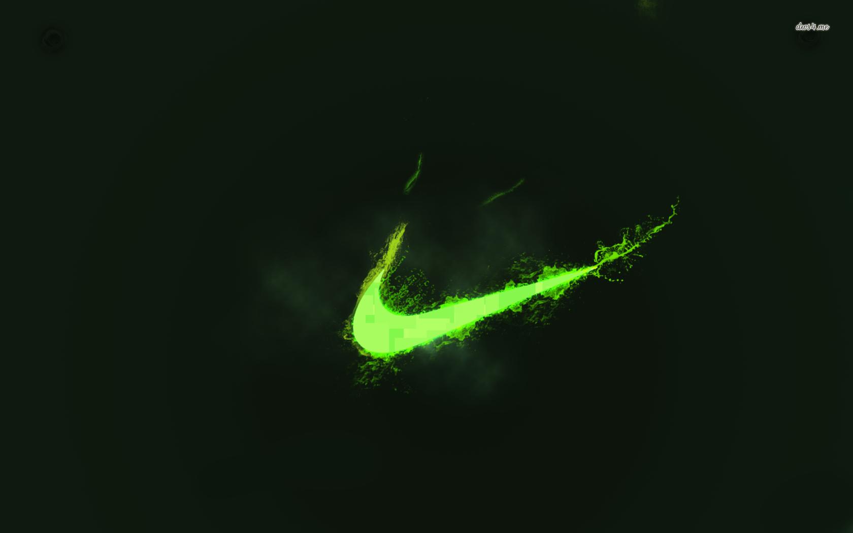 Neon green Nike logo wallpaper   Digital Art wallpapers 1680x1050