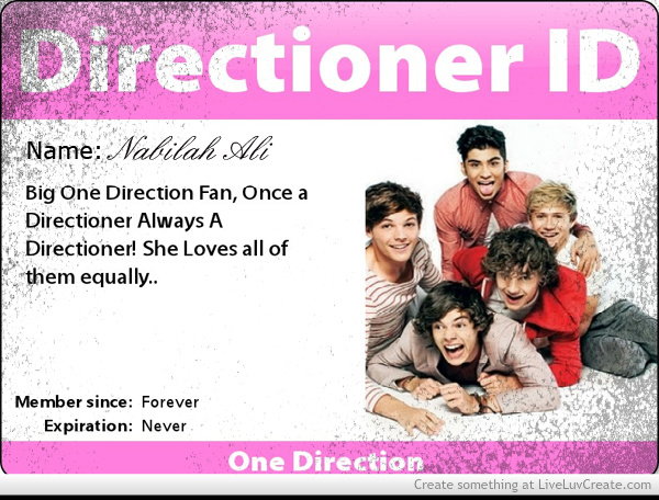 My One Direction Name Card Picture by Bilabong Forever   Inspiring 600x456