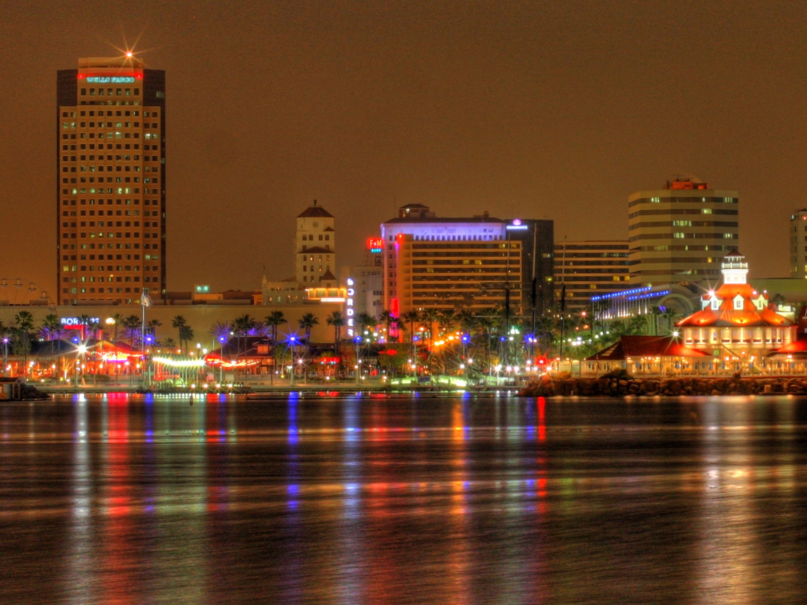 Long Beach at night 1600x1200 wallpaper download page 631435 1600x1200