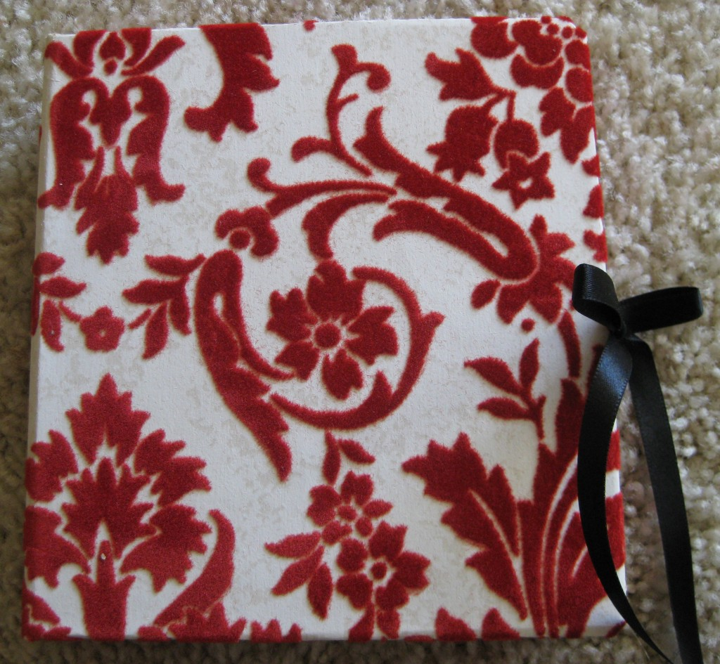 the red velvet cover is made from flocked fuzzy wallpaper 1024x945