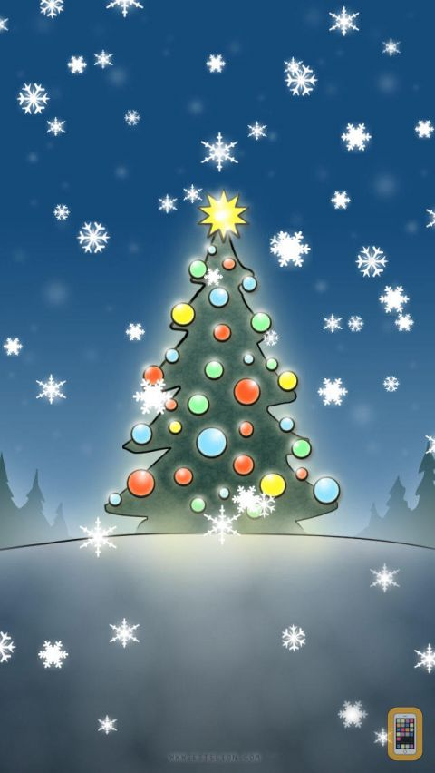 Christmas Slideshow Wallpapers with animated snow for iPhone 480x852