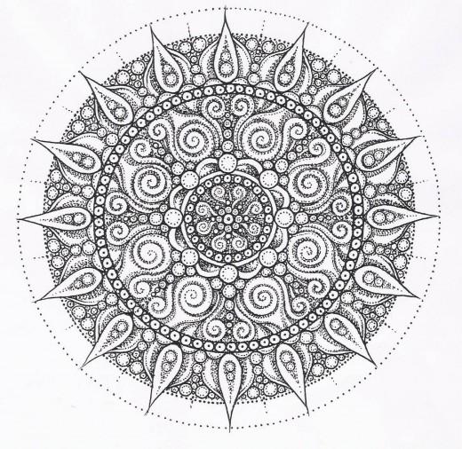 Mandala Coloring Pages mandala coloring pages pinterest mandala 520x506