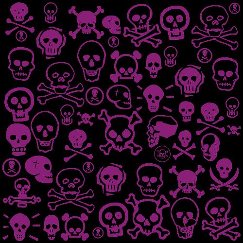 pink skull wallpaper border 500x500