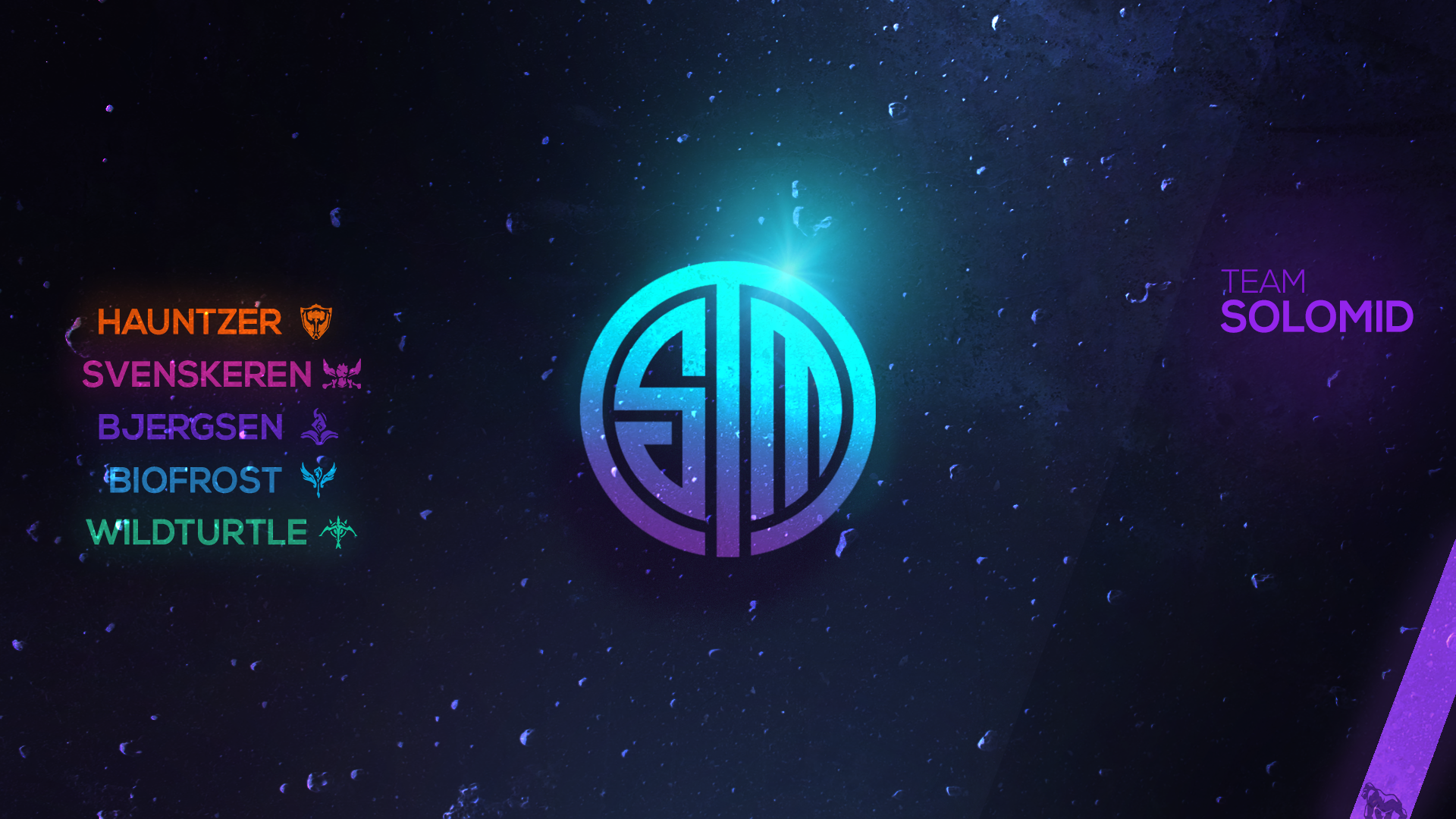 TSM Wallpaper for the current League of Leagends 2017 roster 1920x1080