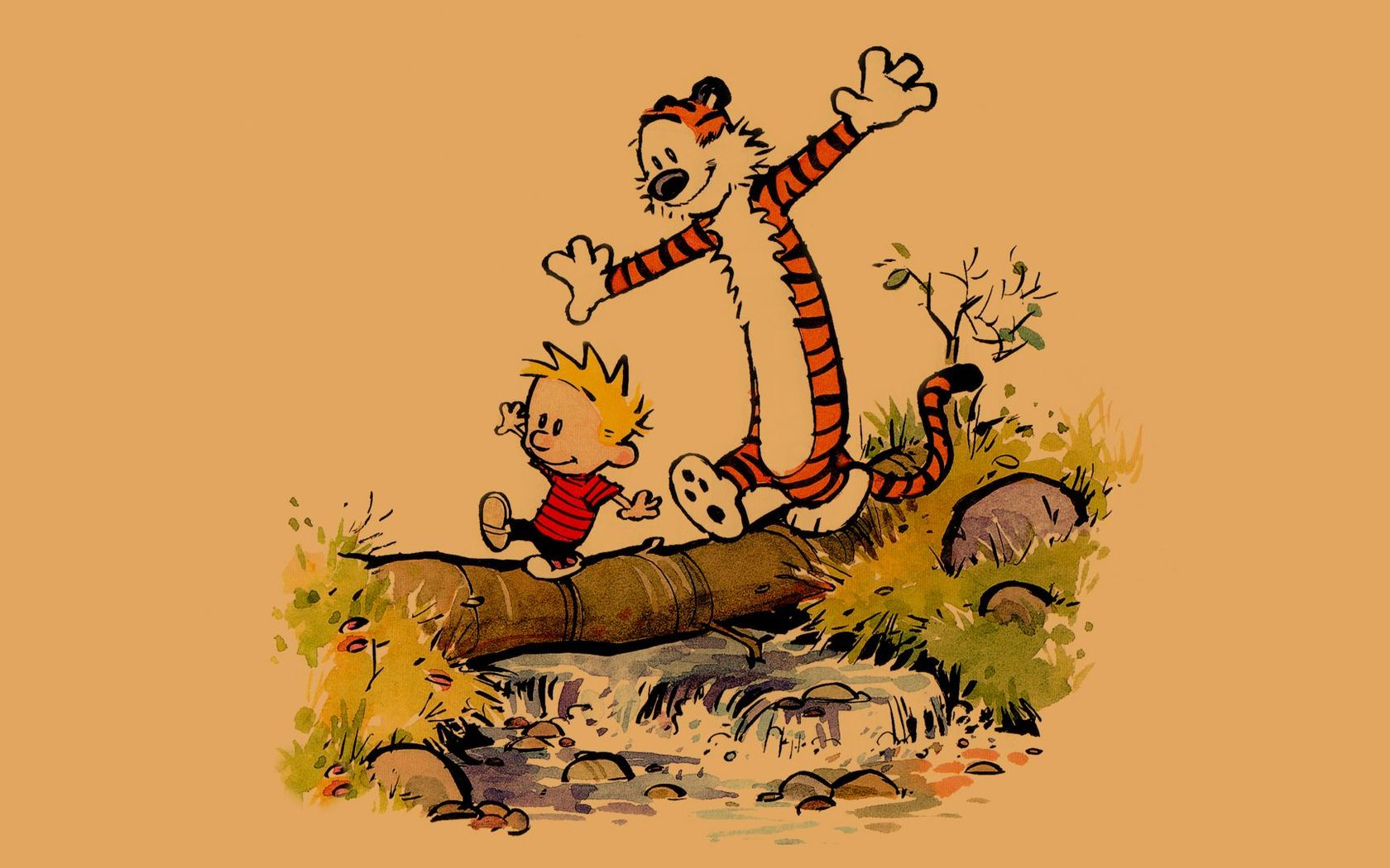 Calvin and Hobbes wallpaper 17987 1680x1050