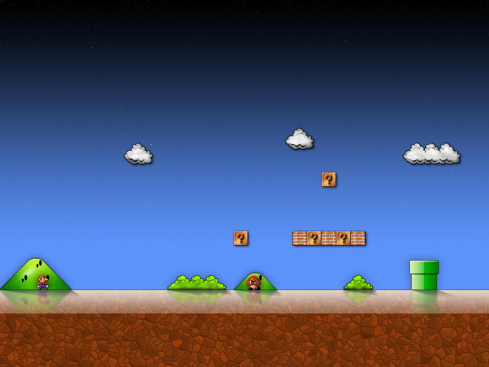 Super Mario Bros hd wallpaper 1600x1200