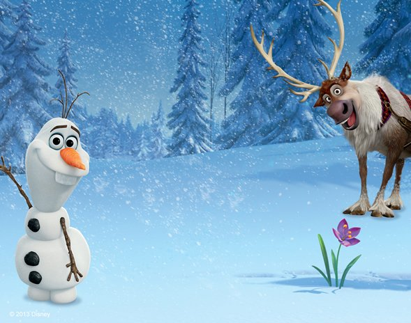 Olaf Frozen Disney Movie Hd Background Wallpaper For Apple Pictures 589x464