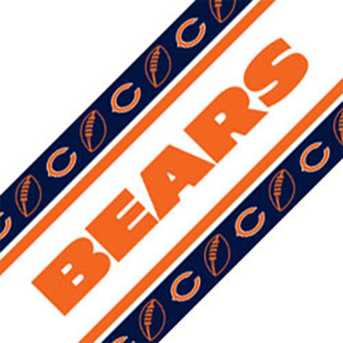 NFL Chicago Bears Wall Border   Football Peel n Stick Roll 500x500