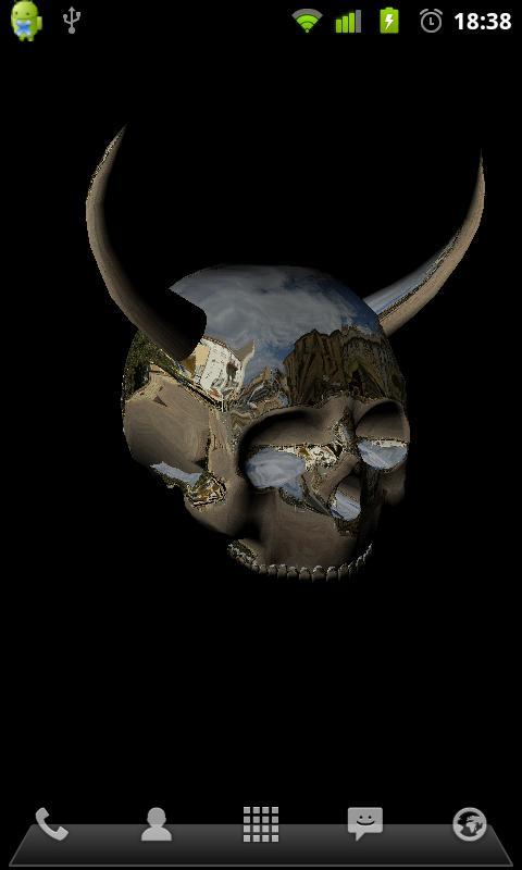Cool 3d Animated Skulls Wallpapers 3d Skulls Live Wallpaper 480x800