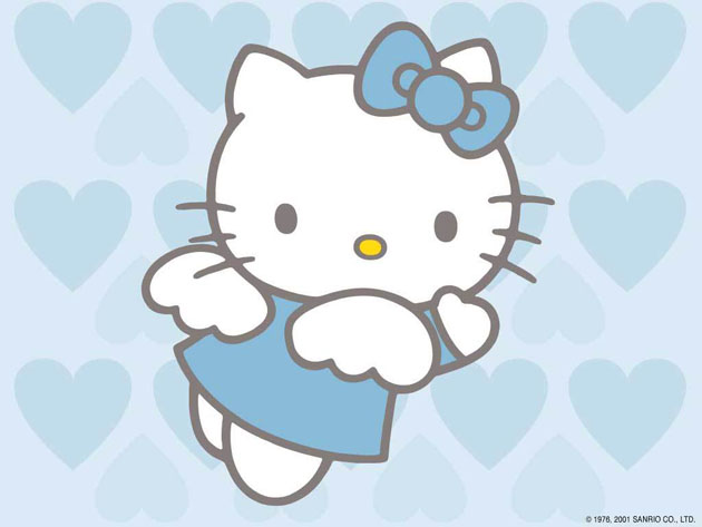 Hello Kitty Angel Screensaver Protetor de Tela 630x473
