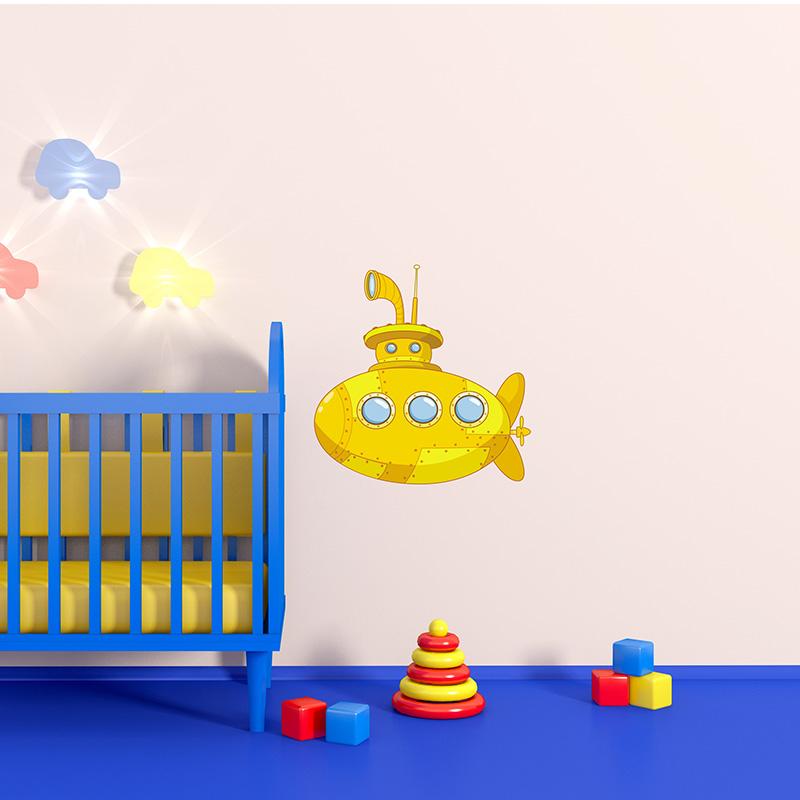 kids nursery yellow submarine wall decal yellow submarine wall decal 800x800
