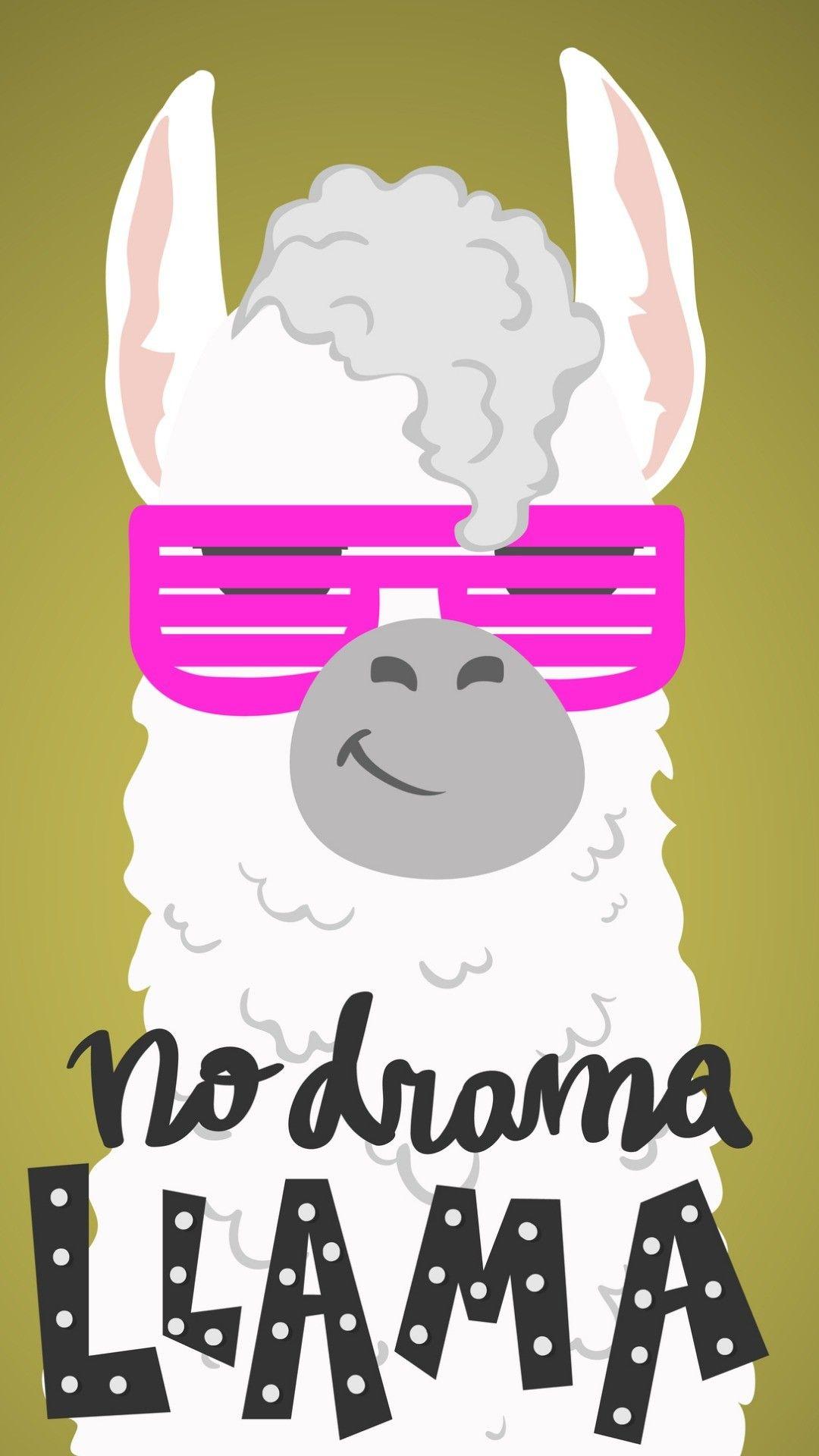 No drama llama wallpaper Cute wallpapers Llama drama Cute 1080x1920