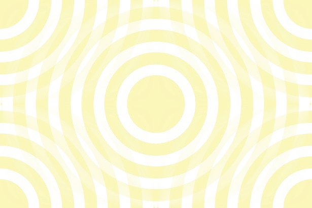 Pale Yellow And White Interlocking Concentric Circles Background 615x410