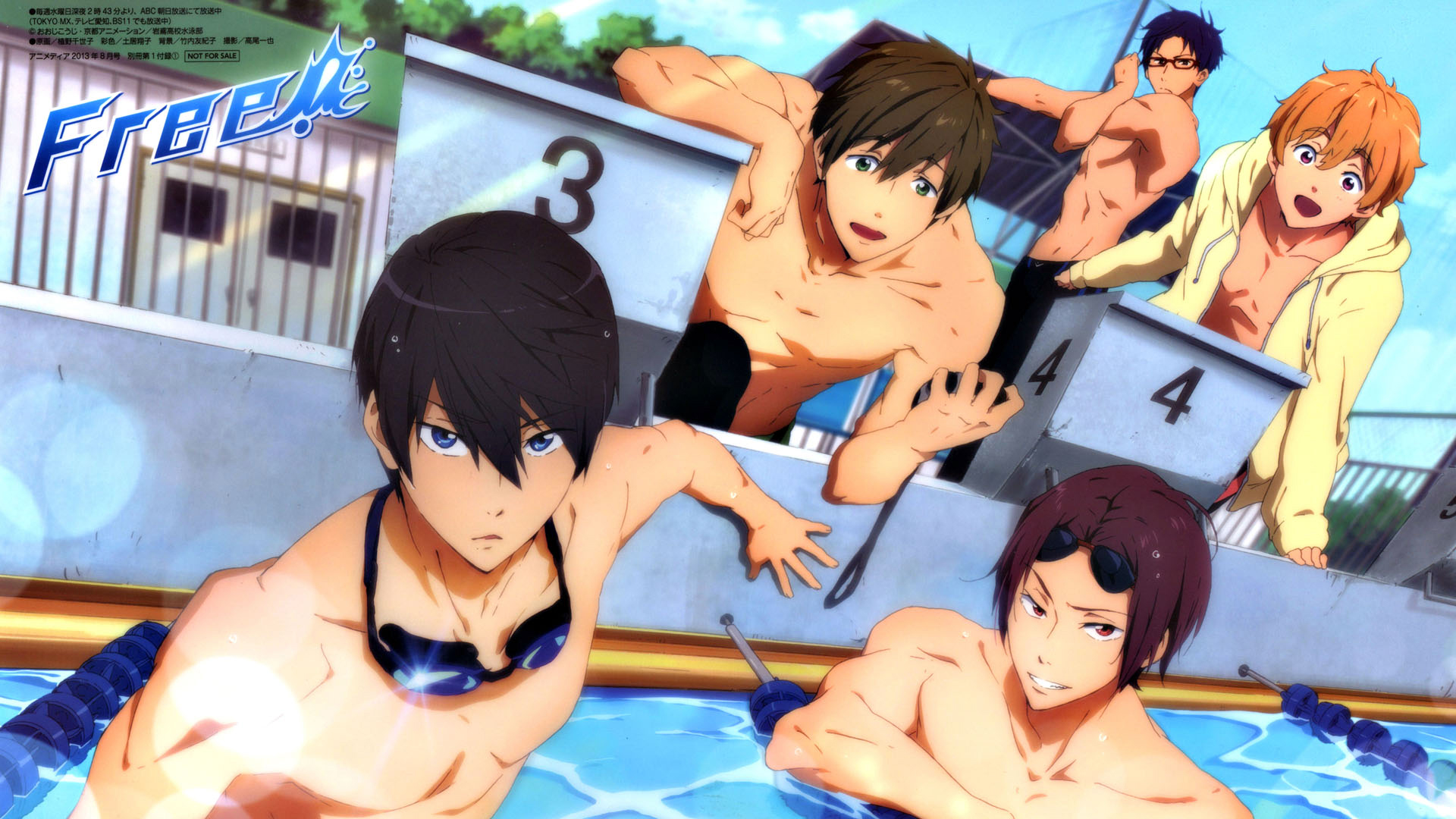 Nagisa Hazuki Rei Ryugazaki Anime Iwatobi Swim Club Anime 1920x1080