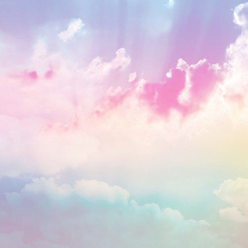 Pastel Clouds Tumblr Theme Wallpaper in Pixels 500x500
