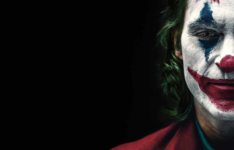 Wallpaper face Joker black background Joker makeup Joaquin 1332x850