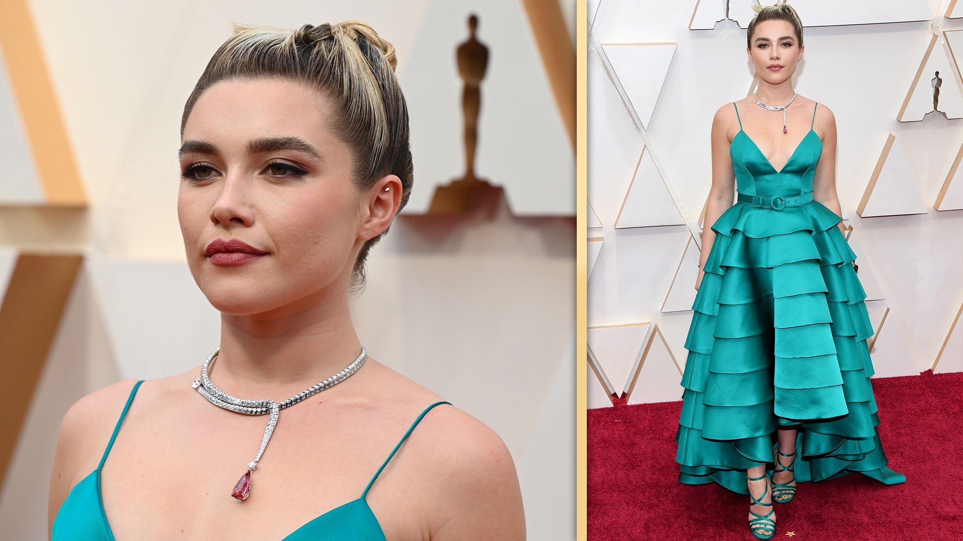 Florence Pugh Stuns in Turquoise on 2020 Oscars Red Carpet 1920x1080