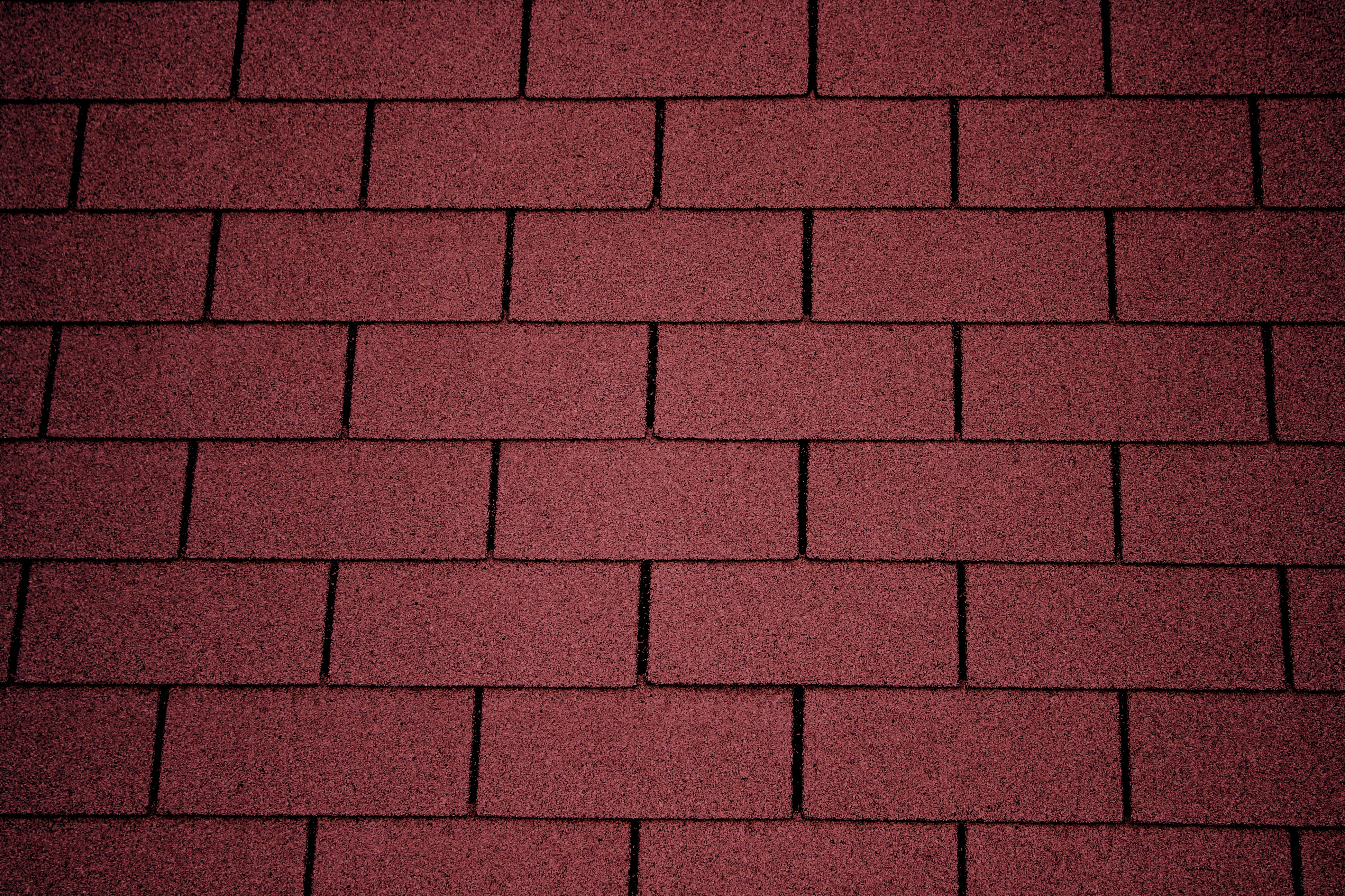 Red Asphalt Roof Shingles Texture Picture Photograph 3888x2592
