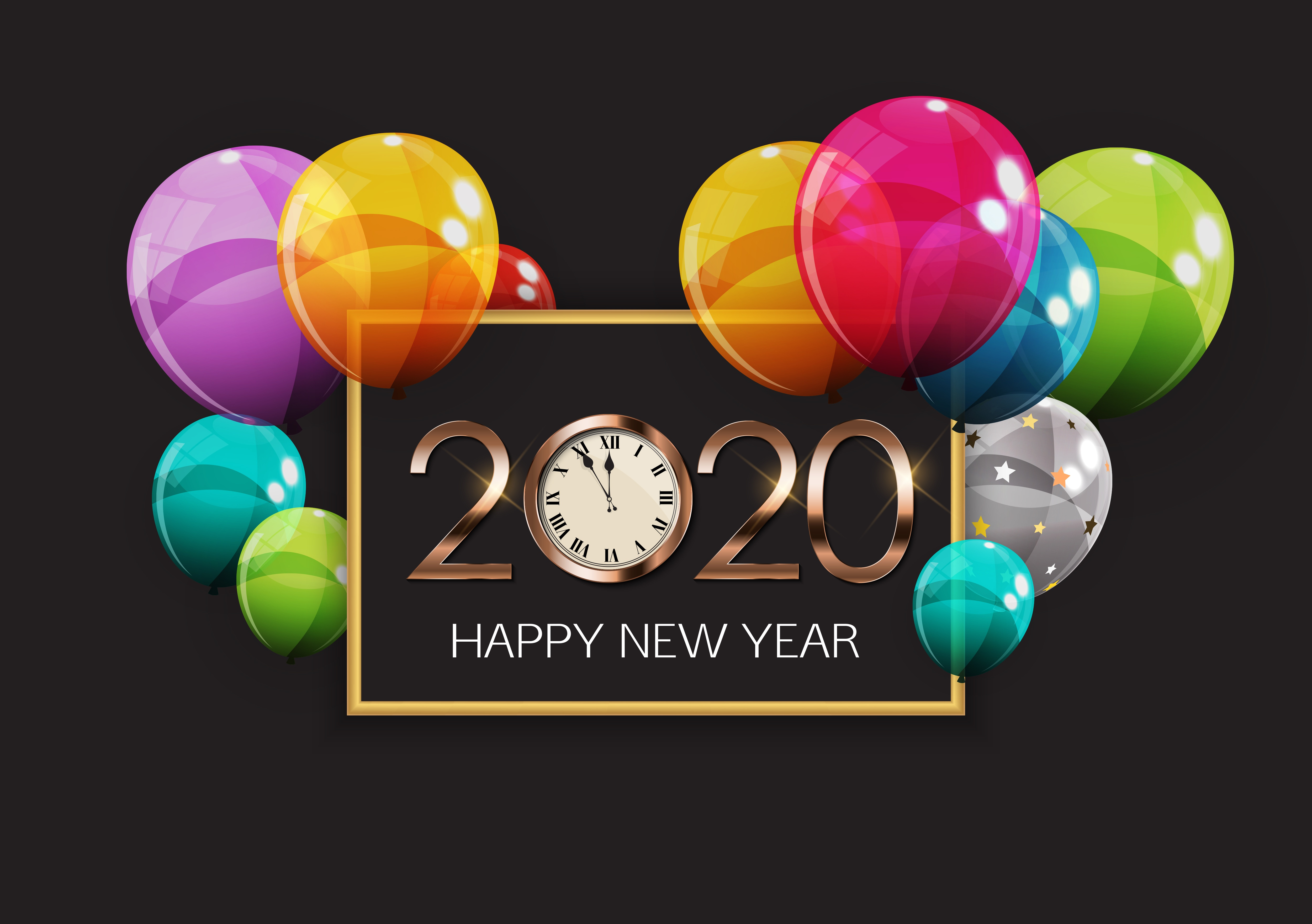 New Year 2020 4k Ultra HD Wallpaper Background Image 5000x3521 5000x3521