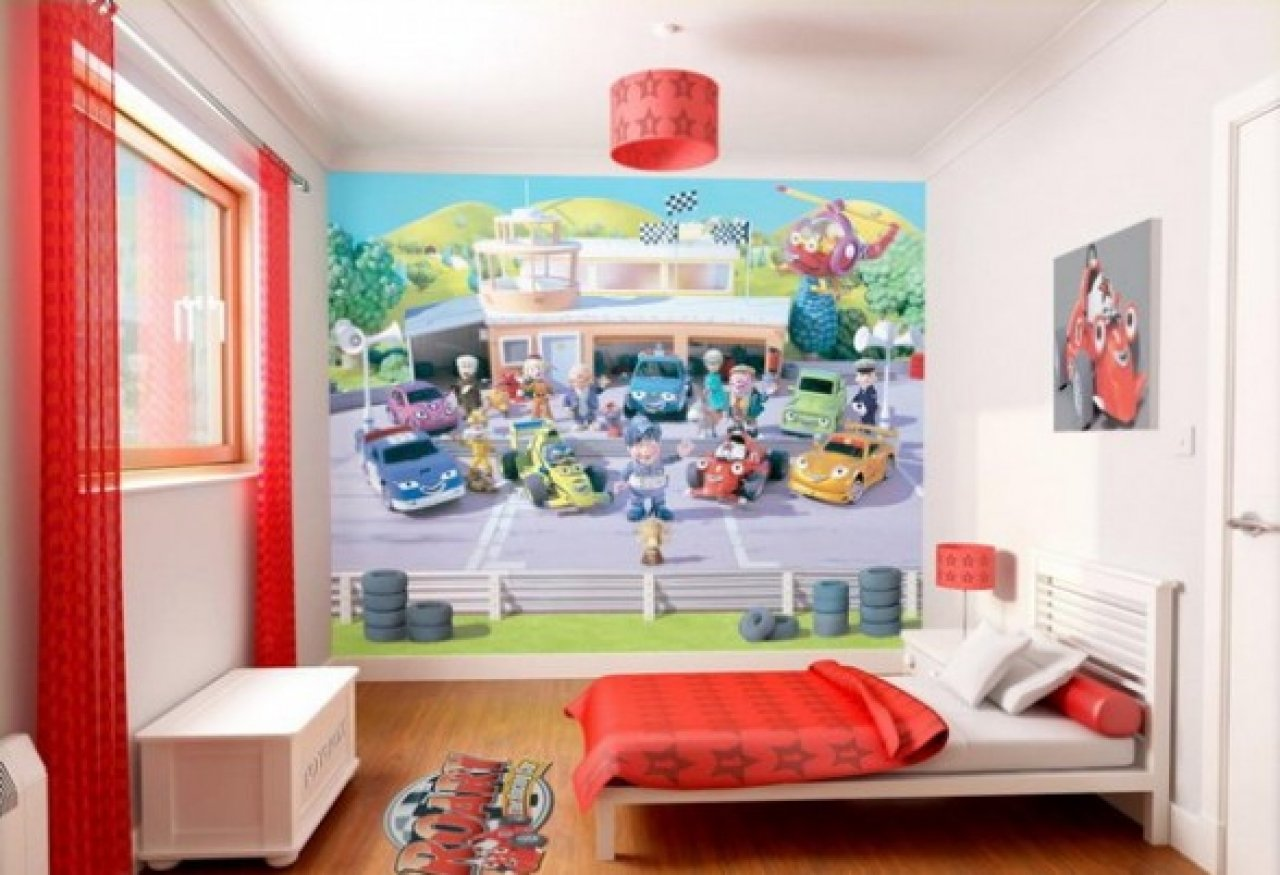 Lego wallpaper for kids room wallpapersafari for Children s bathroom designs