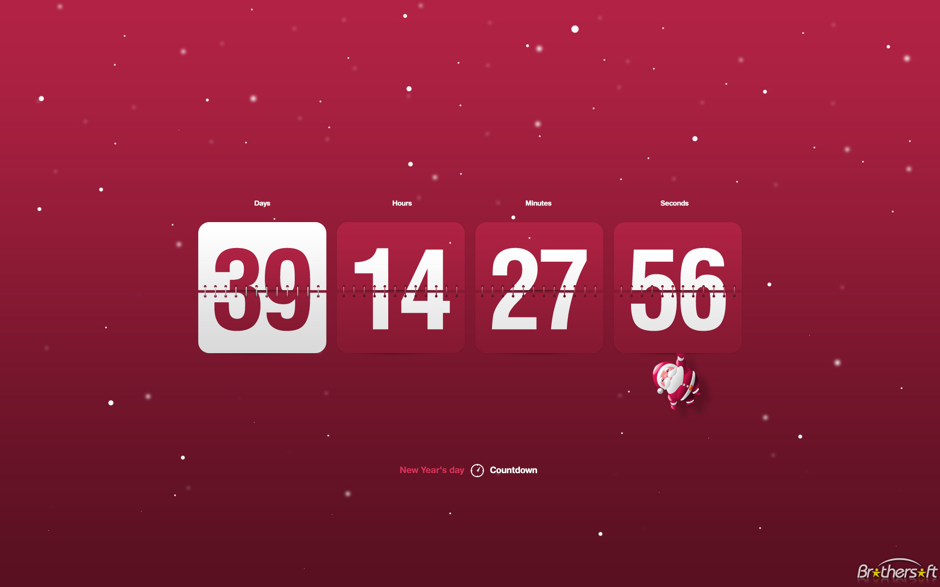 Download New Year Clock Countdown screensaver New Year Clock 1920x1200