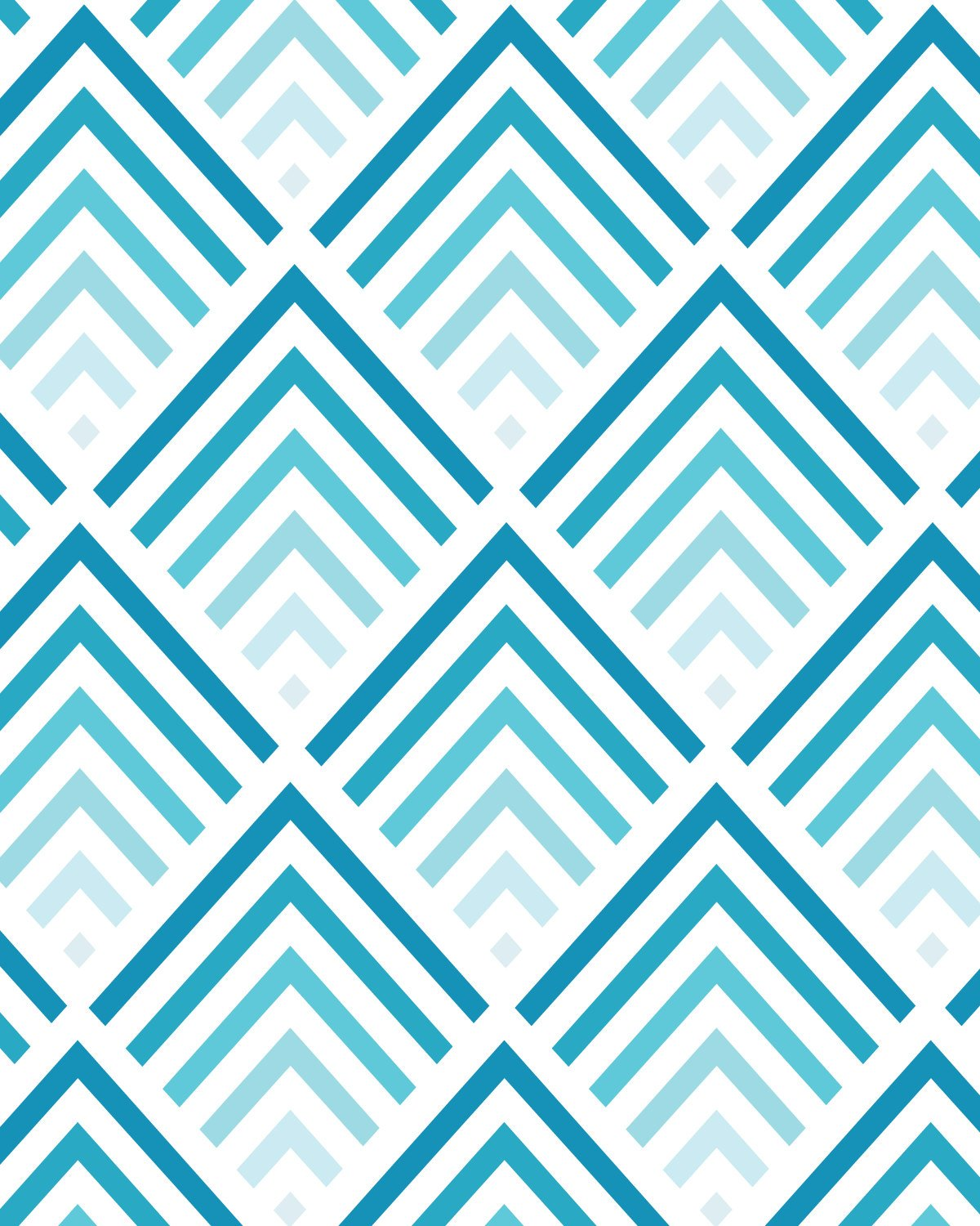 Chevron Design: Teal And Coral Wallpapers