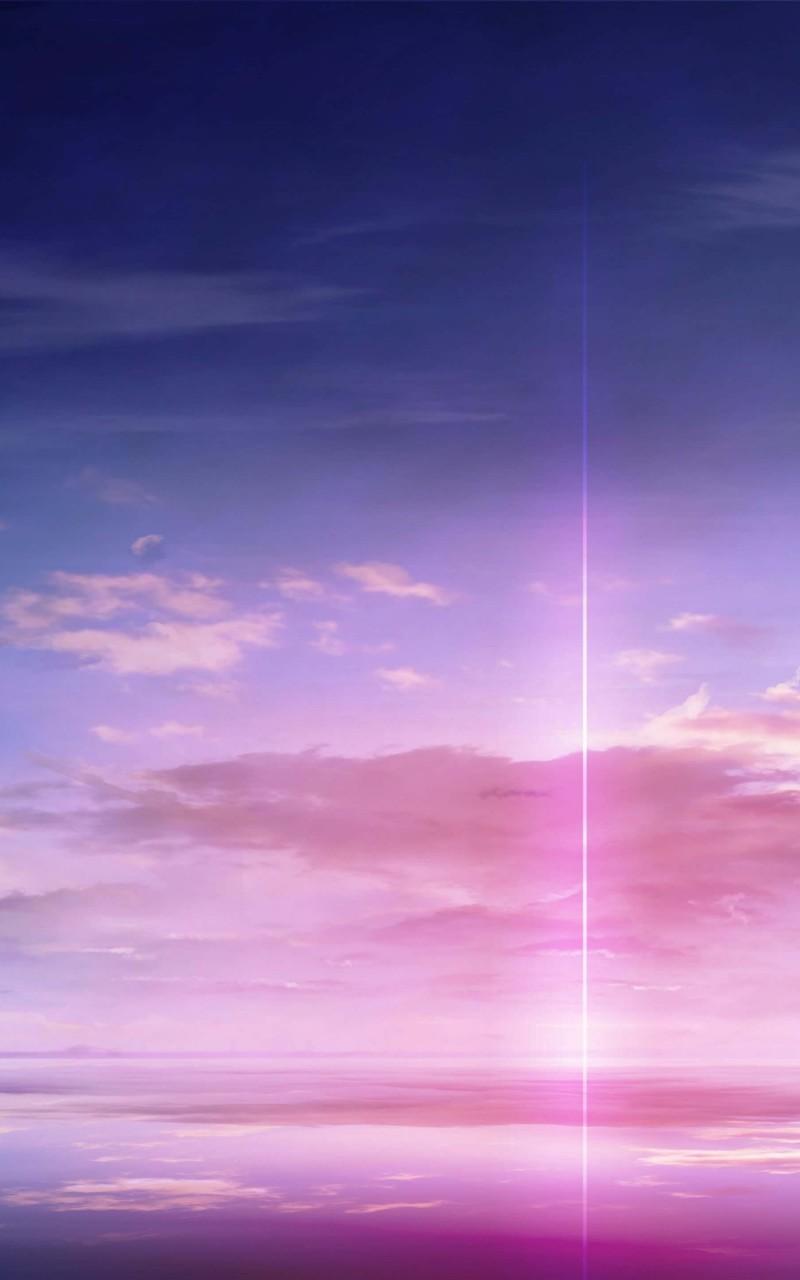 Purple Solar Pillar Wallpaper for Amazon Kindle Fire HD 800x1280