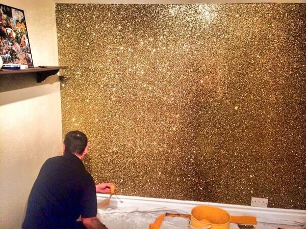 GoldBronze Glitter wall Amazing Glitter Wallpaper Pinterest 600x450