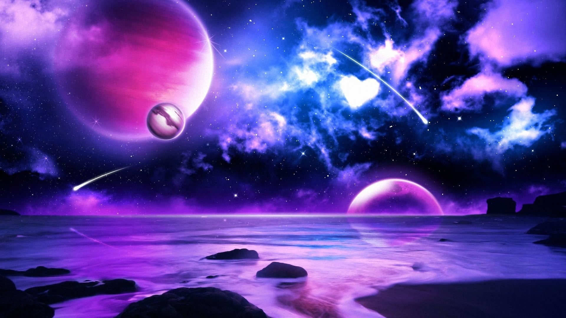 Free Download Purple Space Wallpaper Universe And All Planets