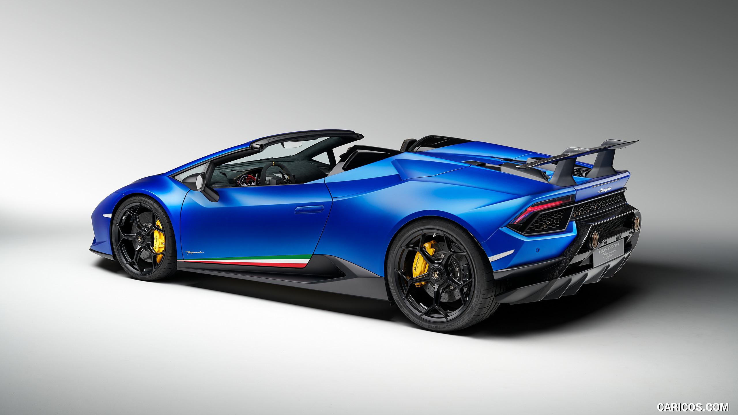 2019 Lamborghini Huracn Spyder Performante   Rear Three Quarter 2560x1440