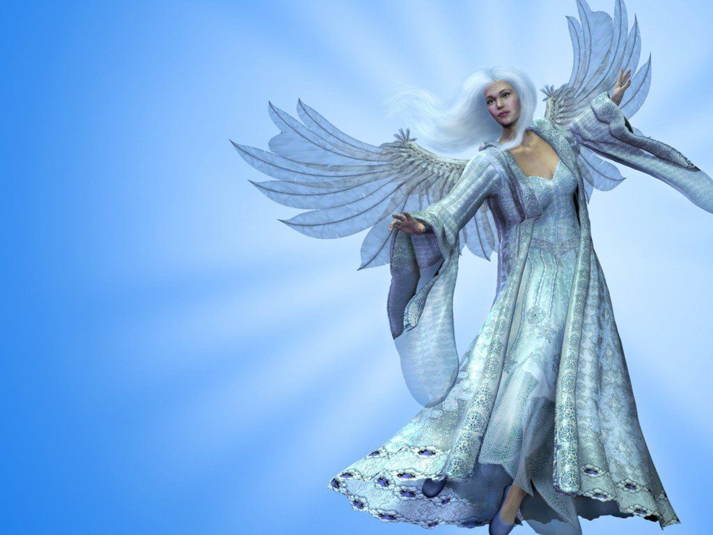 3D White Beautiful Angel Background Wallpapers here you can see 3D 1024x768