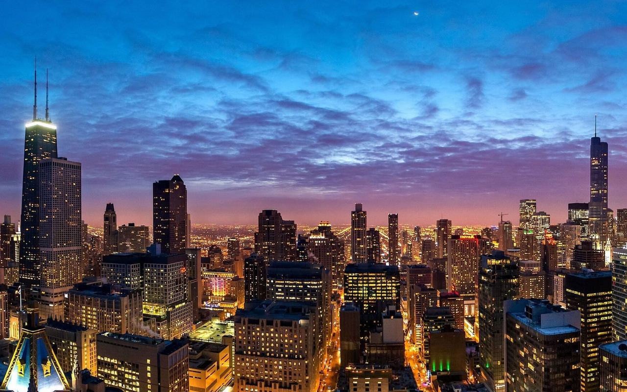 Download Chicago cityscape wallpaper 1280x800