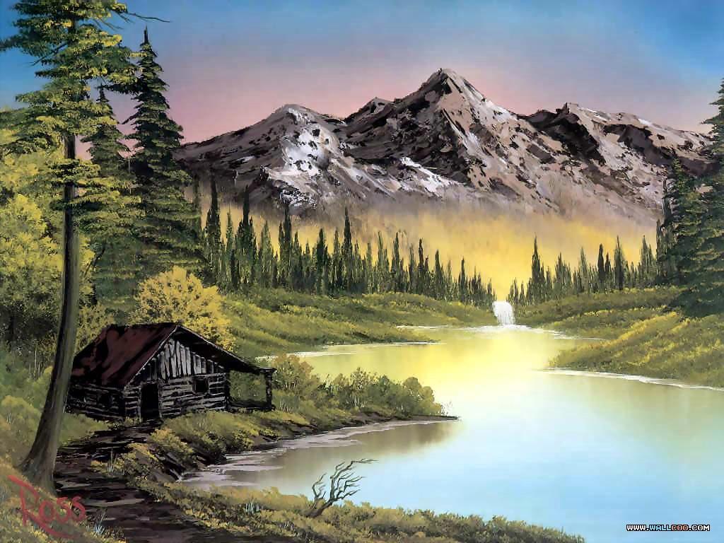 Bob Ross Paintings Bob Ross Oil Paintings Landscape Paintings 1024x768