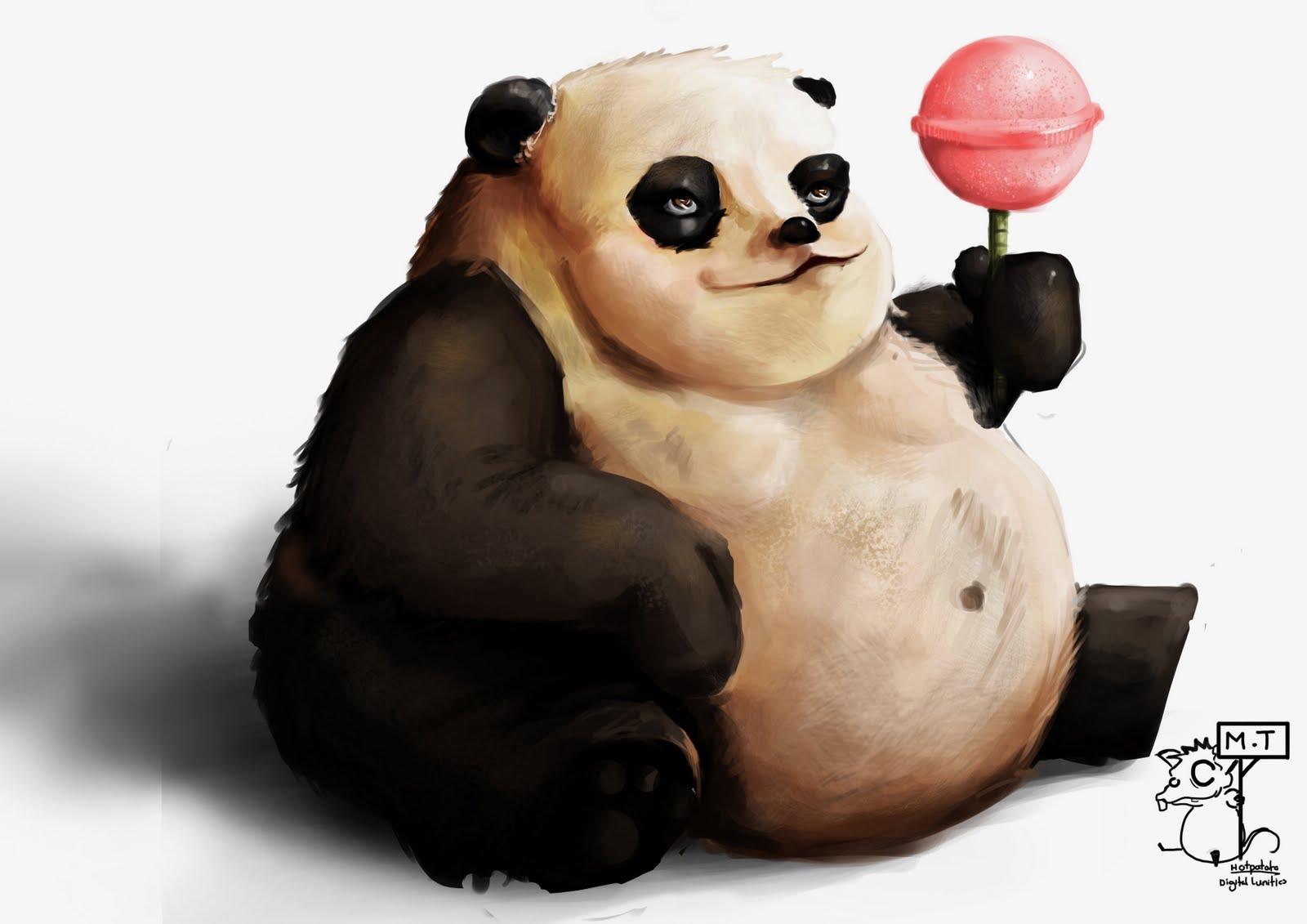 Панды рисунок смешные, поздравления сдачей