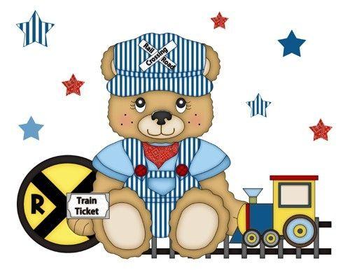 Teddy Bear Train Wallpaper Border Decals Boy Nursery Transportation W 500x386
